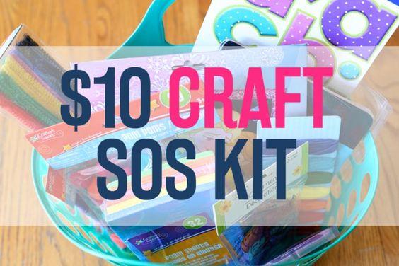 $10 Dollar Store Craft SOS Kit for Kids