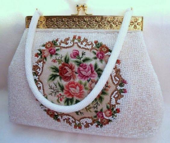 Бисерная сумочка схема