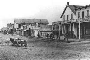 Dodge City, Kansas in 1876...