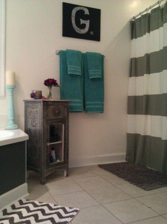 teal and gray bathroom decor awesome 25