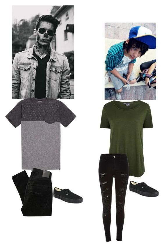 """""""Ugh again?!-Connor -shrugs--Trevor"""" by nightmaregalaxies ❤ liked on Polyvore featuring KR3W, Nobody Denim, Vans, Vince and River Island"""