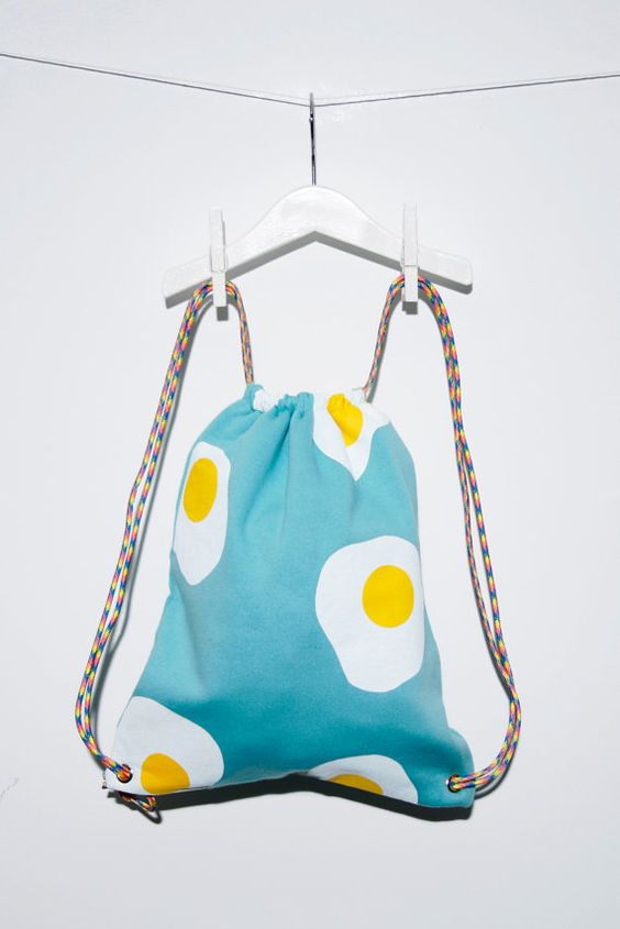 Hey, I found this really awesome Etsy listing at https://www.etsy.com/listing/214931146/fried-egg-travel-backpackbag:
