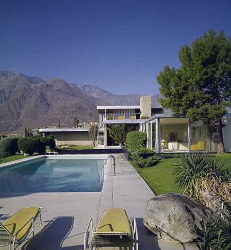 Kaufmann House, Palm Springs by Richard Neutra, 1947    Nine years after the construction of their country house Fallingwater—designed by Frank Lloyd Wright