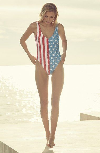 stars and stripes one-piece