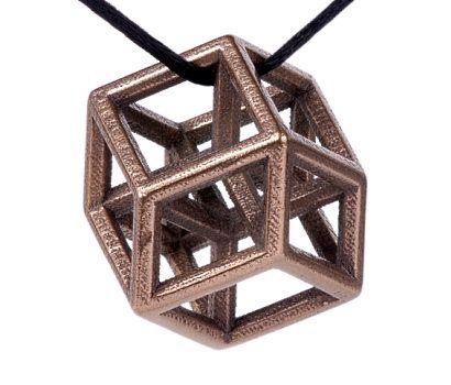 OMG I WANT THIS!!! Bathsheba Sculpture - Hypercube Pendant