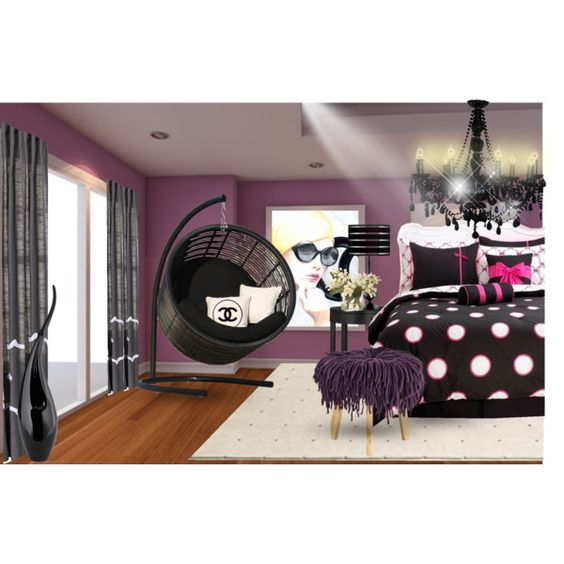 "Purple Dream Bedrooms For Girls Black Bedroom Wall Decor Bedroom Design In India Colour Shades Of Bedroom: ""Teen Bedroom"" By Tanyaf1 On Polyvore"