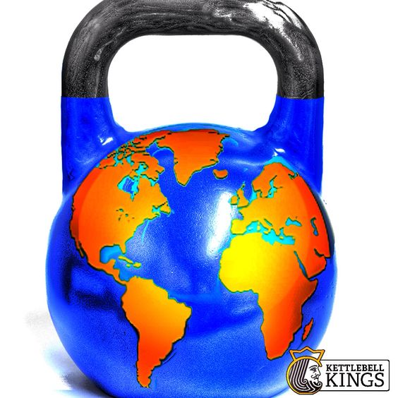 Shout out to the Earth for letting us use #kettlebells on her today.