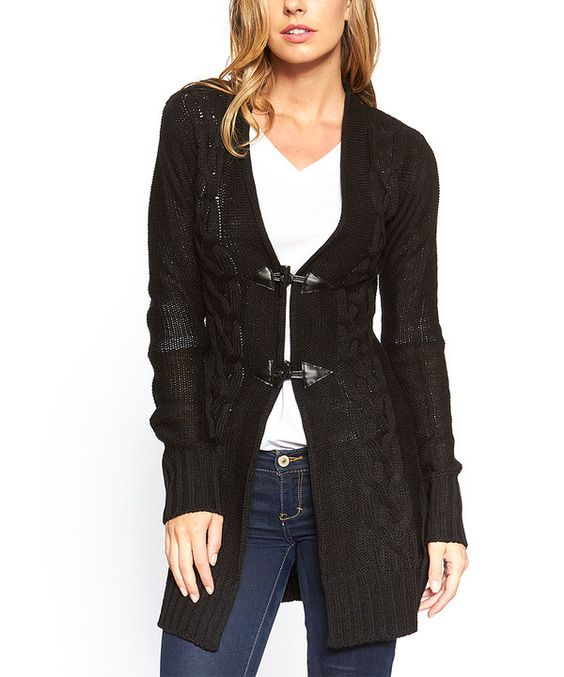 Look at this Black Toggle Cardigan on #zulily today!