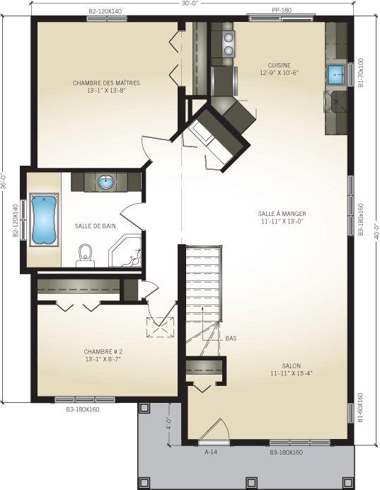 Plan du rez-de-chaussée Plan de maison Pinterest Luxembourg
