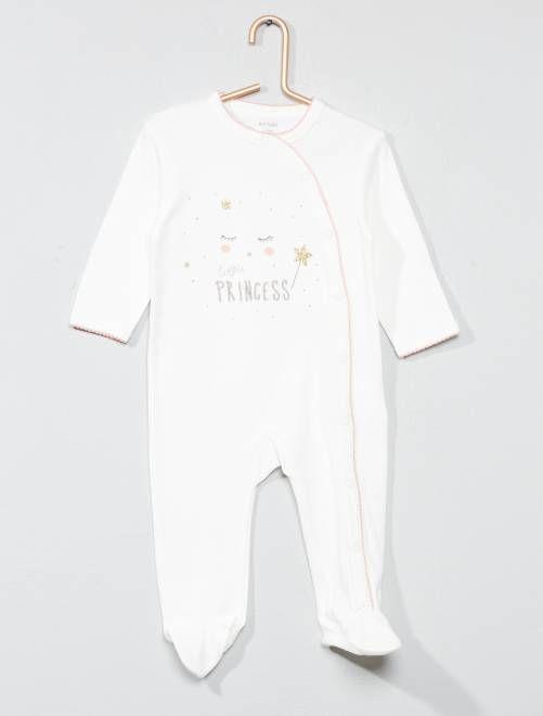 Pyjama Brodé Pur Coton Pyjama Bébé Fille Habit Bébé Fille
