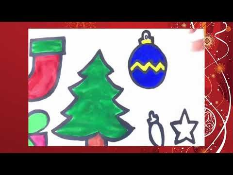 Glitter Christmas Tree Ornaments Coloring And Drawing For Kids Toddlers Christmas Coloring Books Christmas Trees For Kids Simple Christmas Tree