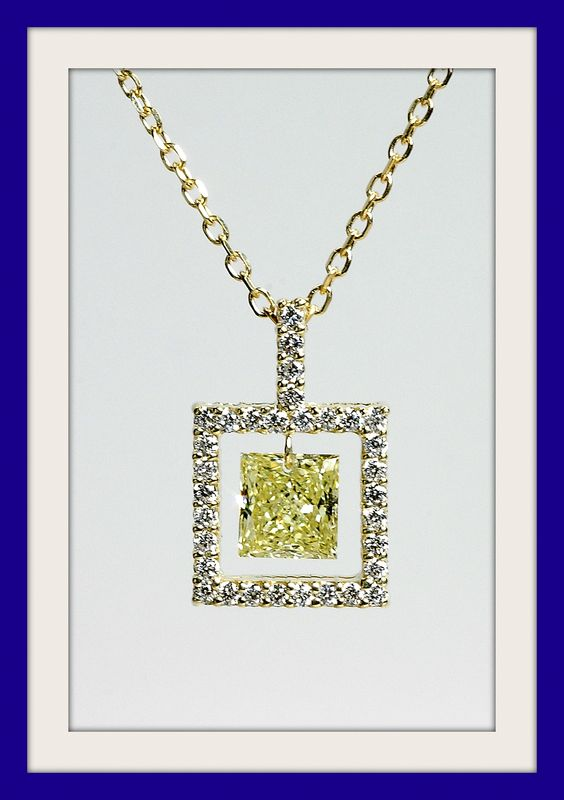 Fancy Intense Yellow diamond framed in diamonds from my new 'Exposed Diamonds' Collection. (many more to come)Like us on FB. https://www.facebook.com/MSImagines?v=wall