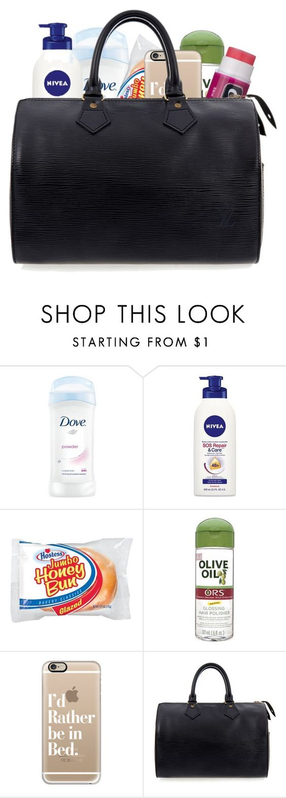 """""""First time making one of these"""" by liveitup-167 ❤ liked on Polyvore featuring Nivea, Hostess, Organic Root Stimulator, Casetify, Chapstick and Louis Vuitton"""