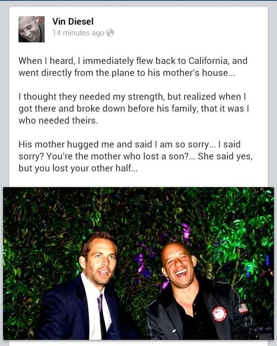 Vin Diesel Shares Pers...