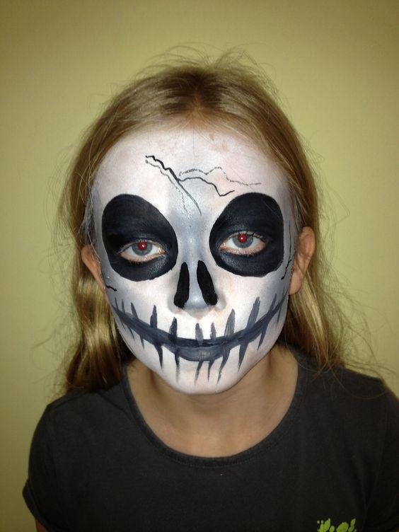 disfraces pintura ideas de la pintura pinturas de la cara de halloween cara pintura corporal de cara completa camino mscaras scary bones