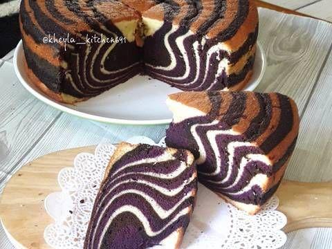 Resep Zebra Cake Putih Telur Super Rekomend Oleh Kheyla S Kitchen Resep Kue Zebra Resep Masakan Natal Resep