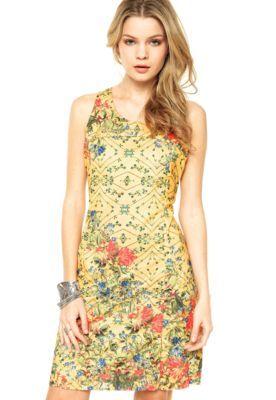 Vestido Cantão Silk Arcadia Amarelo