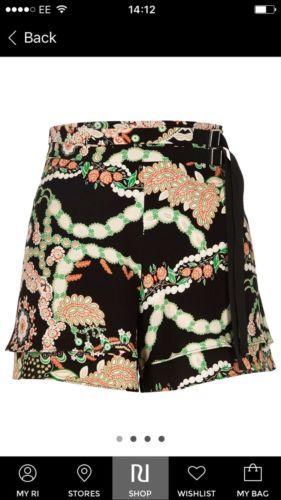 River Island Black Patterned High Waisted Shorts Size 8 https://t.co/sPba7fKSzd https://t.co/vTl3jjHWj3