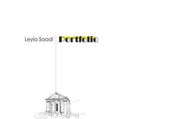 Leyla Saadi Portfolio by Leyla Saadi, via Behance