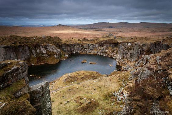 Looking over Foggintor Quarry – Dartmoor