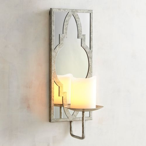 Silver Mirrored Candle Holder Wall Sconce Wall Candle Holders Mirror Candle Holders Candle Holder Wall Sconce