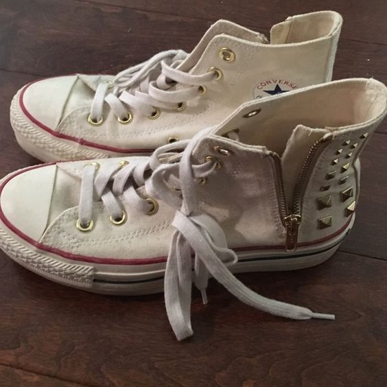 Converse stacks worn maybe once or twice Brand new condition Converse Shoes Sneakers