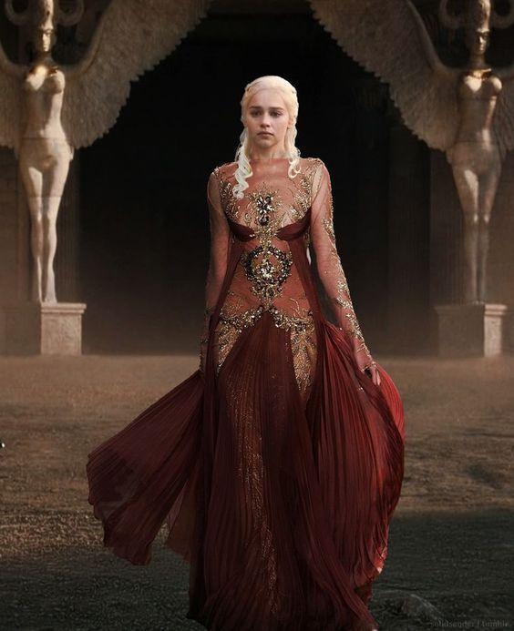 أسطورة ملك الذئاب 18 Completed Ch 50 أنا السبب Mother Of Dragons Burgundy Dress Game Of Throne Daenerys