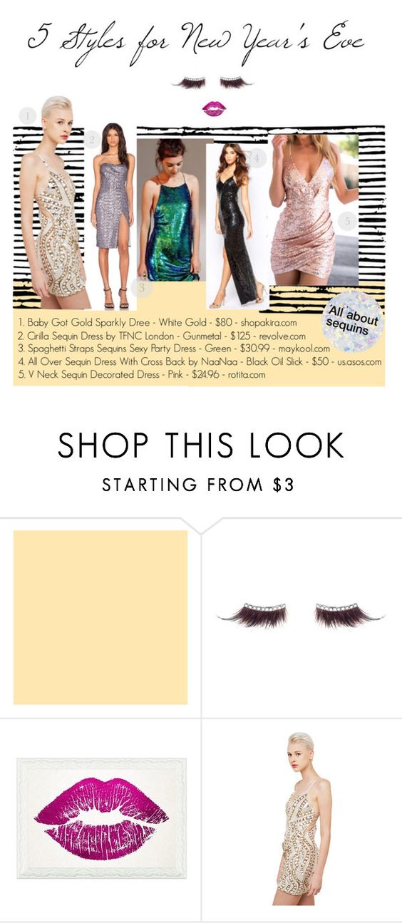 """""""5 Styles for New Year's Eve"""" by sacfashionweek ❤ liked on Polyvore featuring shu uemura, Oliver Gal Artist Co., Essie, NightOut, holidaystyle, NewYearsEve, 2015 and sequindresses"""