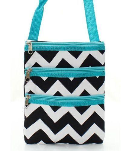 prada gold handbag - Chevron AQUA Blue Black White HIPSTER Crossbody TOTE BAG Handbag ...