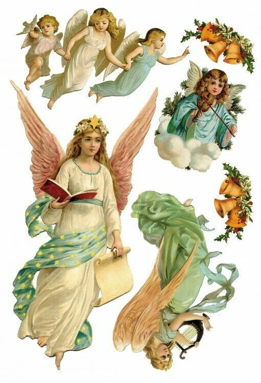 Angels Four Christmas Angels Poster Sticker Wall Decal 22x16in 119635 Fashion Home Garden Homedcor Dec Angel Posters Poster Stickers Christmas Angels