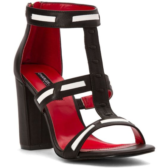 Charles Jourdan Women's Brea Sandals (385520401) ($86) ❤ liked on Polyvore featuring shoes, sandals, black, charles jourdan, charles jourdan shoes, charles jourdan sandals, black high heel sandals and kohl shoes
