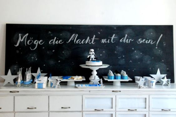 Liebesbotschaft: Starwars Birthday Party: