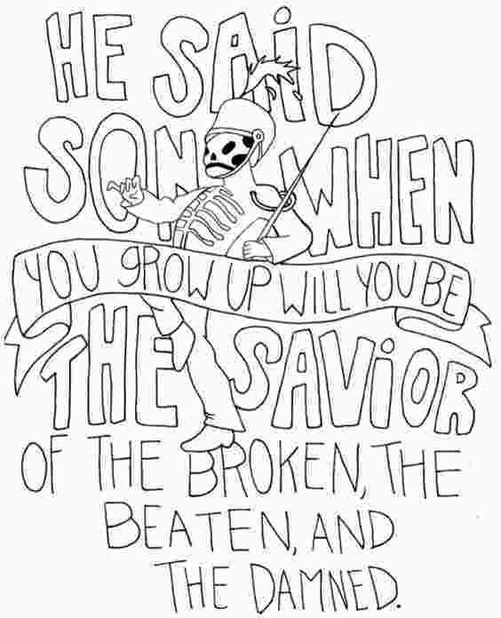 Coloring Book Song Lyrics Lyrics Draw And Band On Pinterest 79649 My Chemical Romance Lyric Drawings Lyric Art