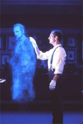 How to Create a Ghost Illusion for a Haunted House @Mary Powers Powers Powers Sandgren this is awesome, I would love to try this: