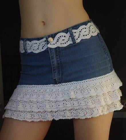 Diy para hacer una falda vaquera reciclando un pantalón.