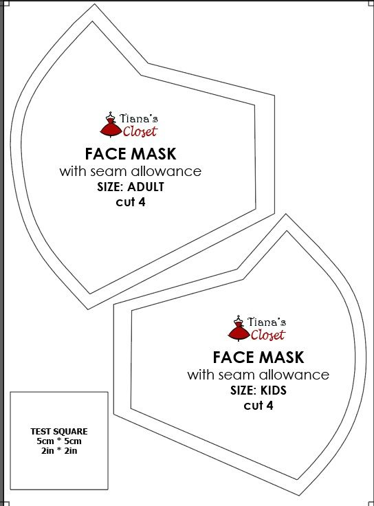 The Little Sewist Free Sewing Pattern In 2020 Face Mask Sewing