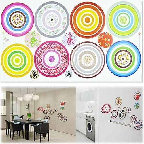 W3LE Good Quality Fashion DIY Circles TV Sofa Background Can Remove Wall Sticker   eBay
