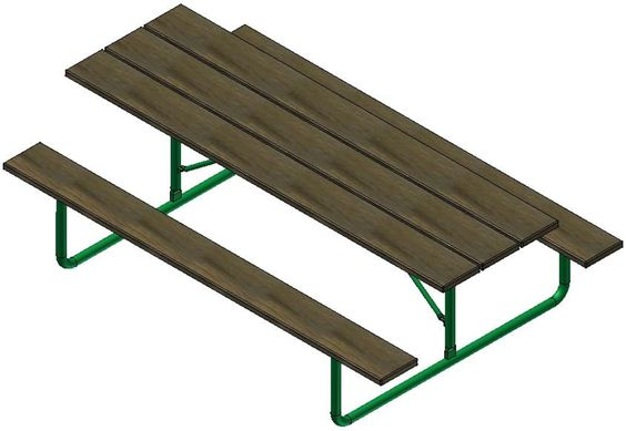 Picnic Tables: Traditional-style Picnic Tables are an inexpensive but durable option for any park setting. - Iowa Prison Industries