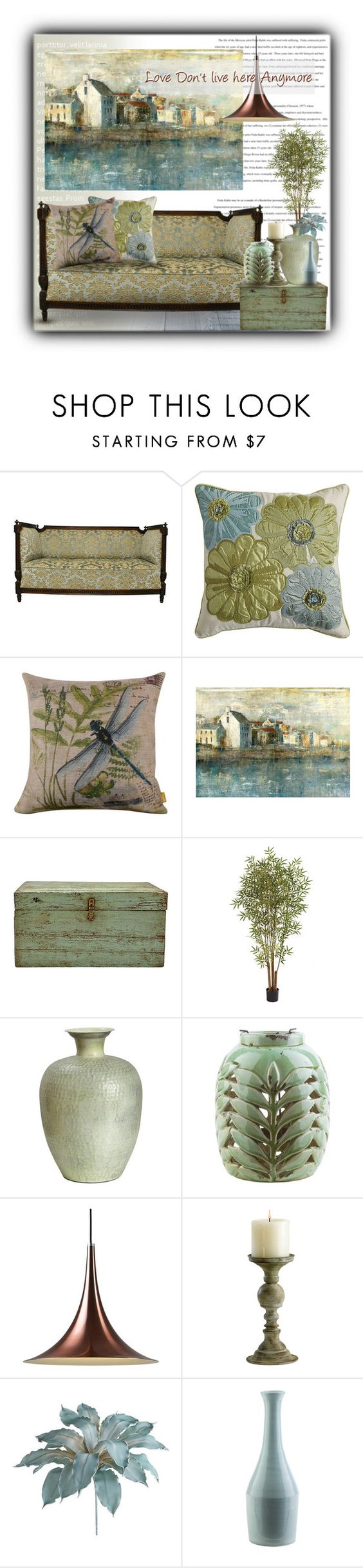 """Love don't live here anymore..."" by sapora ❤ liked on Polyvore featuring interior, interiors, interior design, home, home decor, interior decorating, Pier 1 Imports, Ballard Designs, Nearly Natural and Surya"