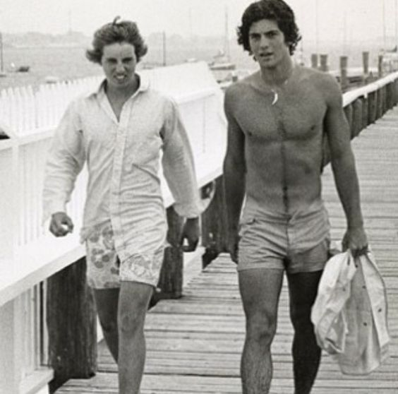Christopher Kennedy and his cousin John F Kennedy Jr, in Hyannisport MA