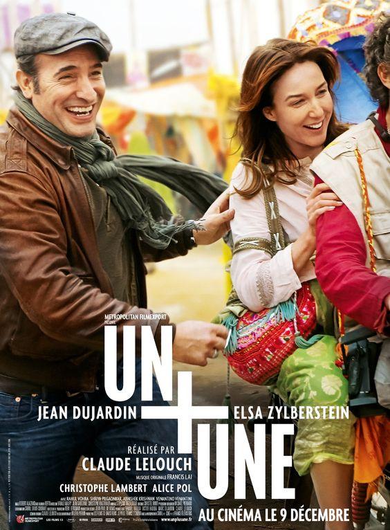 Un + une est un film de Claude Lelouch avec Jean Dujardin, Elsa Zylberstein. Synopsis : Antoine ressemble aux héros des films dont il compose la musique. Il a du charme, du succès, et traverse la vie avec autant d'humour que de légèreté.