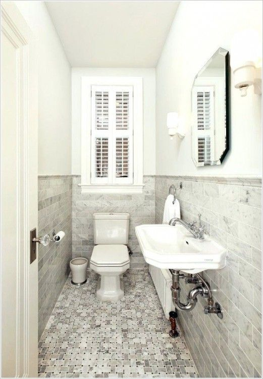 Long Narrow Bathroom Ideas Small Half Bathrooms Powder Room Small Powder Room Tile
