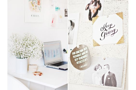 More inspiration under the click, love her workspace!  Dog Friendly Studio: His + Hers + Coco's   Pretty Fluffy