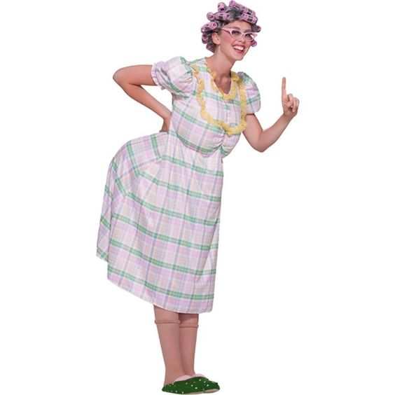 Amazon.com: Aunt Gertie Funny Adult Costume: Adult Sized Costumes: Clothing