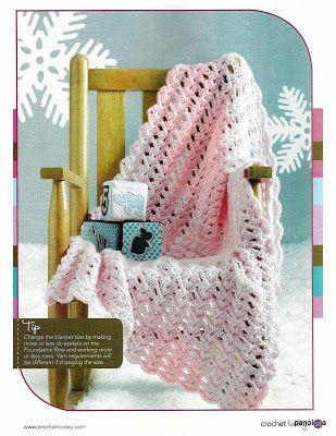 Colcha-manta de bebê em crochet