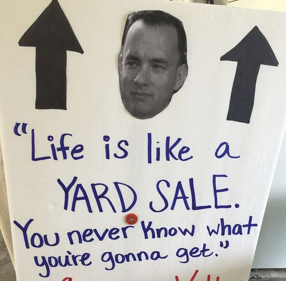 Yard Sale sign - I'm proud of this one. 😉