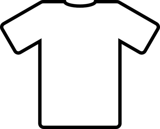 t shirt shape clipart - photo #16