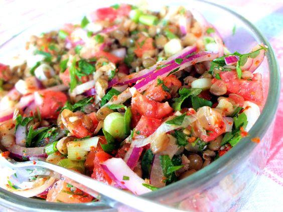 Green lentil salad, Green lentils and Lentil salad on Pinterest