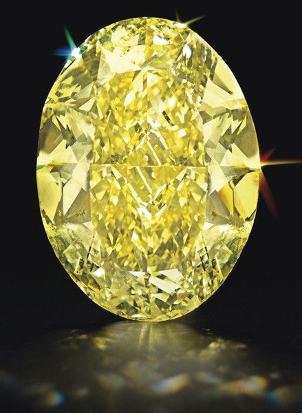 68-Carat Unmounted Oval-Cut Fancy Yellow Diamond The fancy intense yellow, natural color, internally flawless clarity has excellent polish and excellent symmetry. Estimate, $2.2 million – $3.2 million. Sold for $3.16 million.68-Carat Oval Fancy Yellow Diamond