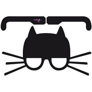 Me pareció ver un lindo gatito de gafas-careta...